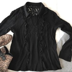 Zara Basic Blouse Black